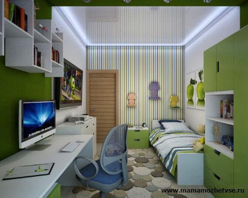 Оформление рабочей зоны в детской комнате 5