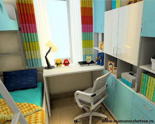 Оформление рабочей зоны в детской комнате 7