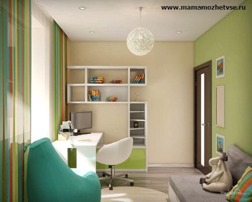Оформление рабочей зоны в детской комнате 8