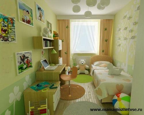 Оформление рабочей зоны в детской комнате 10