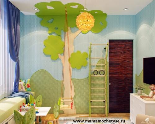 Оформление игровой зоны в детской комнате 1