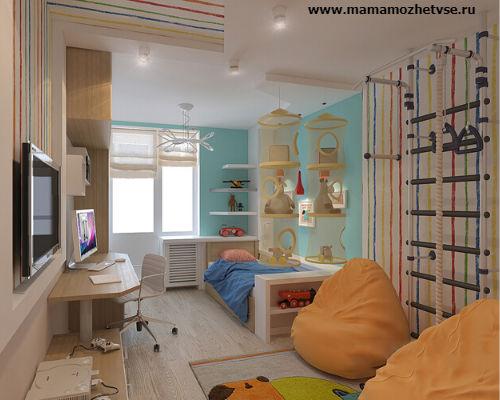 Оформление игровой зоны в детской комнате 4
