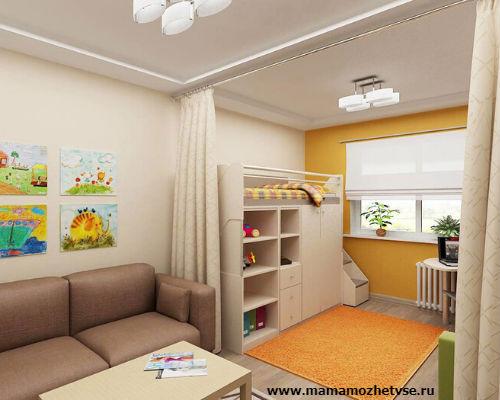 Оформление игровой зоны в детской комнате 6