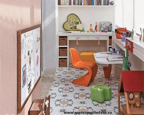Оформление игровой зоны в детской комнате 7