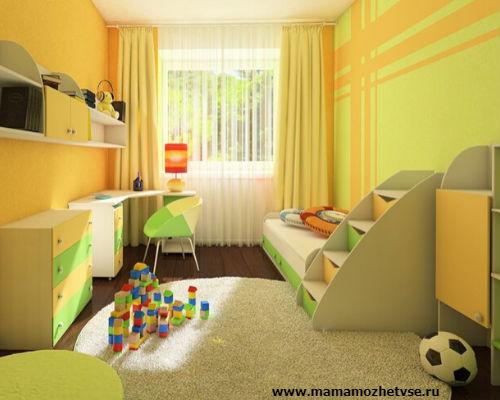 Оформление игровой зоны в детской комнате 8