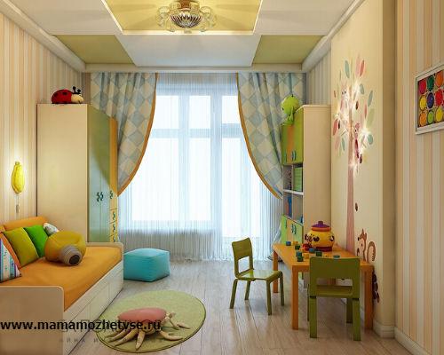Оформление игровой зоны в детской комнате 9