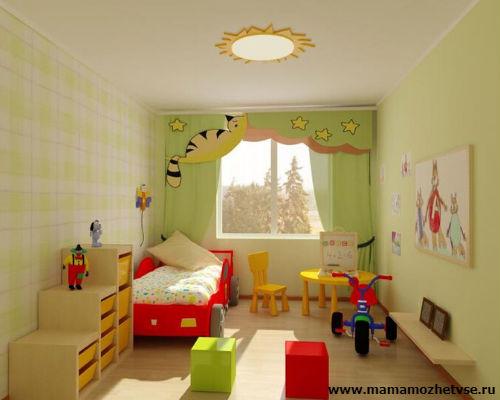 Оформление игровой зоны в детской комнате 10