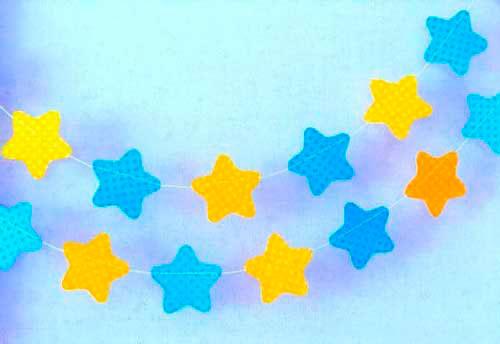 Идея гирлянды из бумаги для Нового года: звёзвочки