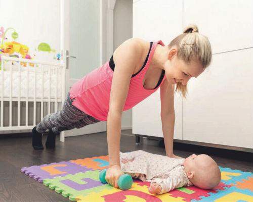 Физическая нагрузка мамы после родов