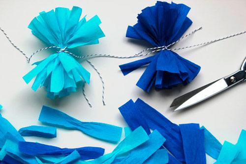 Гирлянда из бумаги: разноцветные банктики