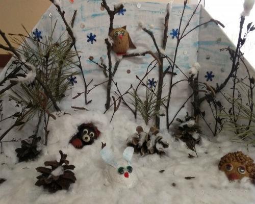 Интересные поделки из природных материалов на тему зима 9