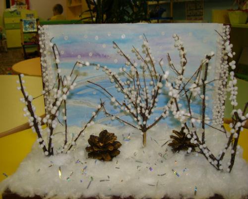 Интересные поделки из природных материалов на тему зима 6