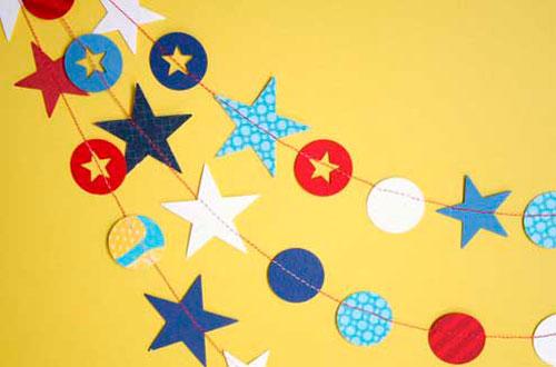 Идеи гирлянд из бумаги для Нового года: звёздочки