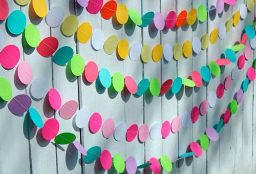 Идеи гирлянд из бумаги для Нового года: кружки