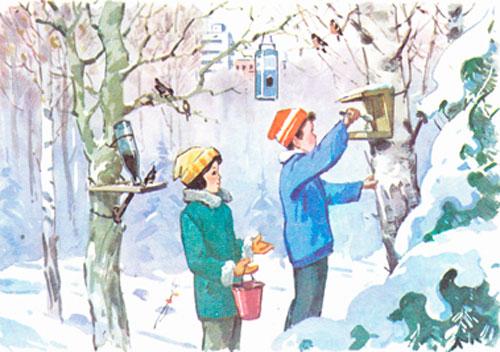 Загадки про зимующих птиц с ответами для детей 5-7 лет