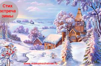 Стих: Встреча зимы