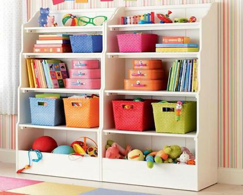 Где хранить игрушки в детской комнате 8