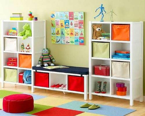 Где хранить игрушки в детской комнате 10