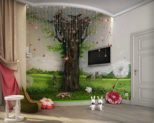 Интересные идеи для детской комнаты 1