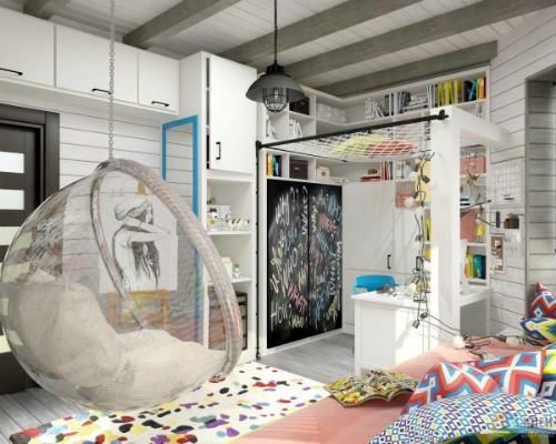 Интересные идеи для детской комнаты 7