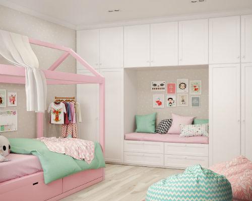 Дизайн детской комнаты для девочки 4