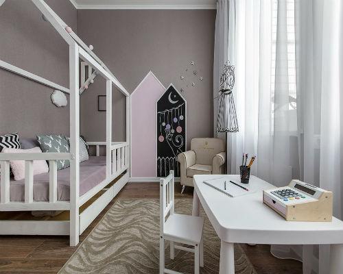 Дизайн детской комнаты для девочки 9