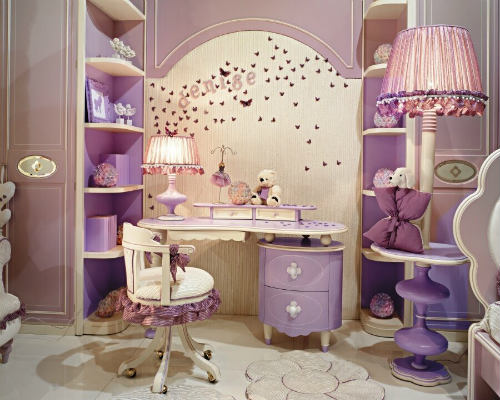 Детские комнаты для девочек разных стилей 4