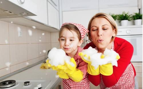как убирать с детьми