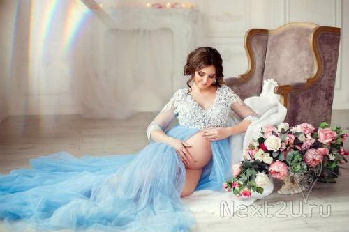 Фотосессия беременных в студии идеи для вдохновения 1