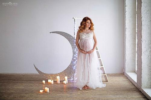 Фотосессия беременных в студии идеи для вдохновения 2