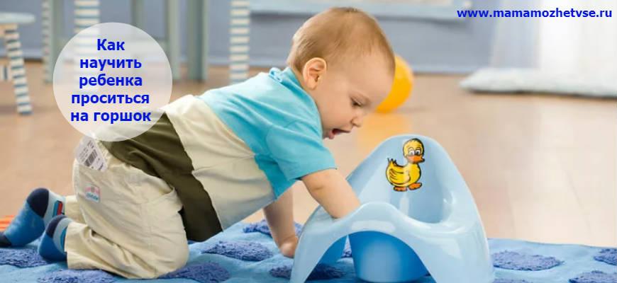 Приучаем ребенка к горшку