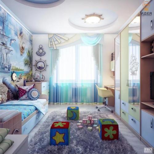 Цветовая гамма для комнаты для мальчика. Основные критерии выбора цвета для детской 10