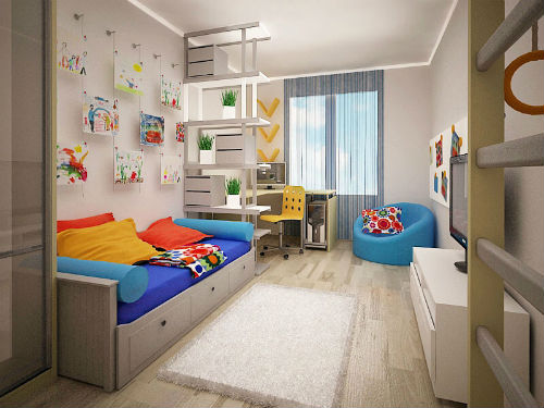 Детская для мальчика: подбираем цветовую гамму 9