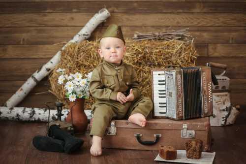 фотосессия ребенка на Праздник 9 мая