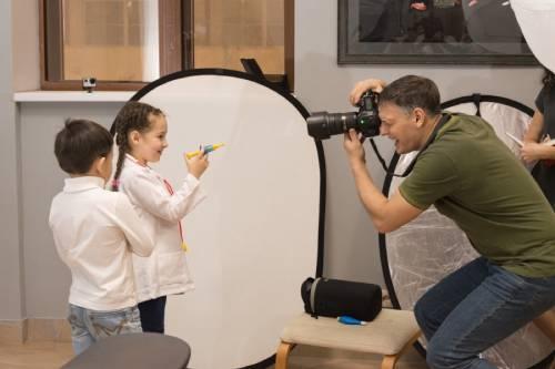 дети на фотосессии в студии
