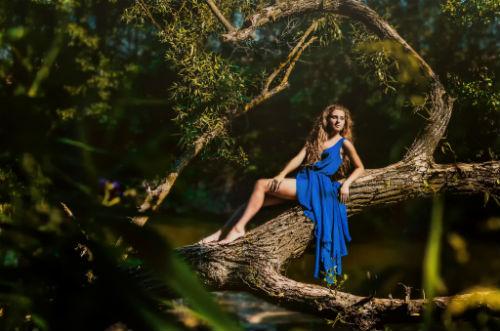 Оригинальные идеи для фотосессии в лесу 5