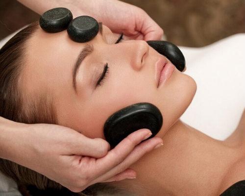 Стоун массаж лица-массаж лица камнями