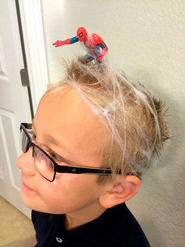 Детские прически, которые развеселят: человек паук
