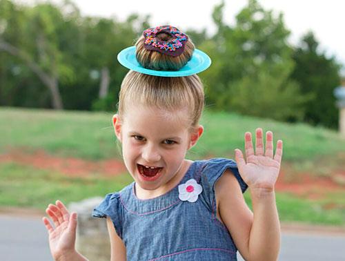 Детские прически, которые развеселят: пироженнка