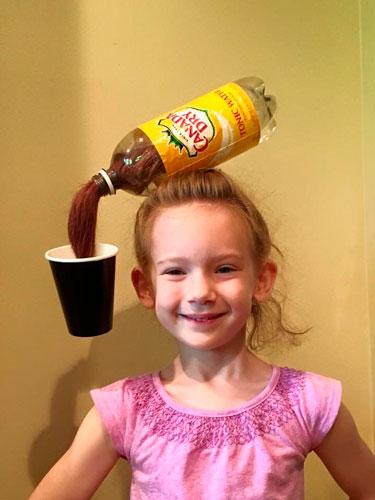 Детские прически, которые развеселят: с бутылкой