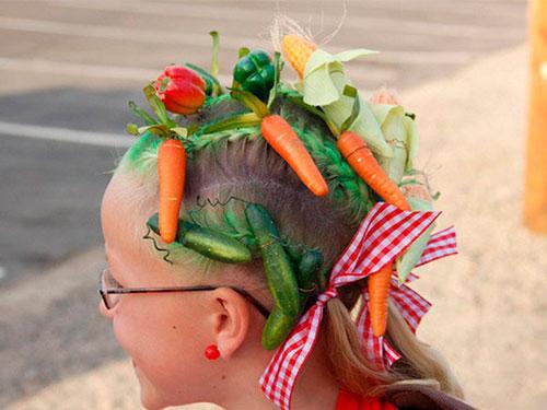 Детские прически, которые развеселят: с овощами