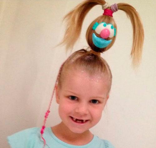 Детские прически, которые развеселят: яйцо