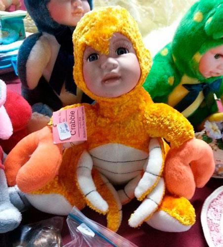 Детские игрушки, которые напугают и взрослых: краб
