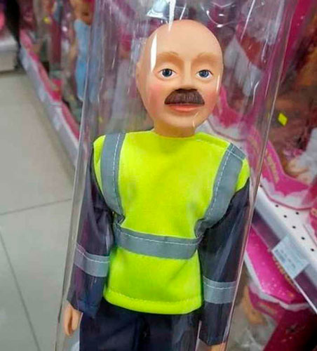Детские игрушки, которые напугают и взрослых гаишник