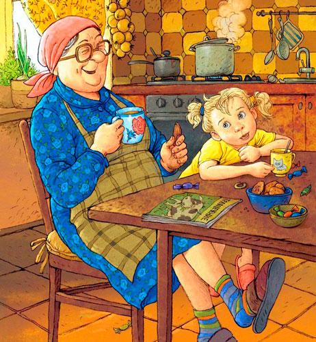 Прикольные частушки про бабушку для детей
