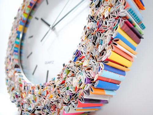 Часы из журналов своими руками