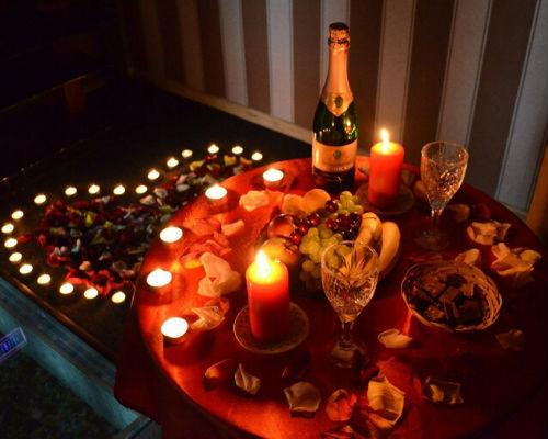 Романтическая атмосфера вечера
