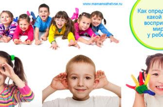 Как определить, какой тип восприятия мира у ребенка