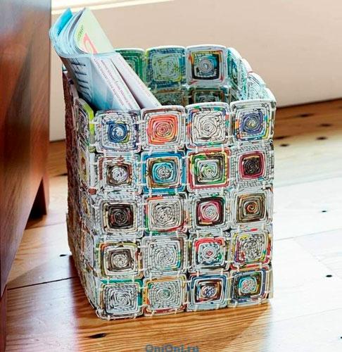 Коробка из журналов своими руками