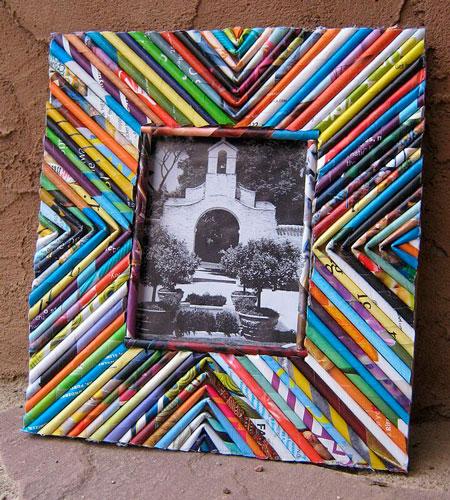 Рамка для фотографий из журналов своими руками дома
